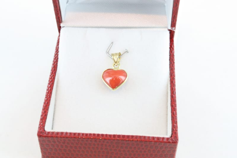 pendentif corail rouge et or PE-CO-OR-057