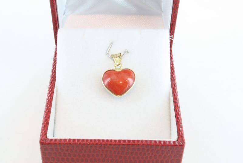 pendentif corail rouge et or PE-CO-OR-058