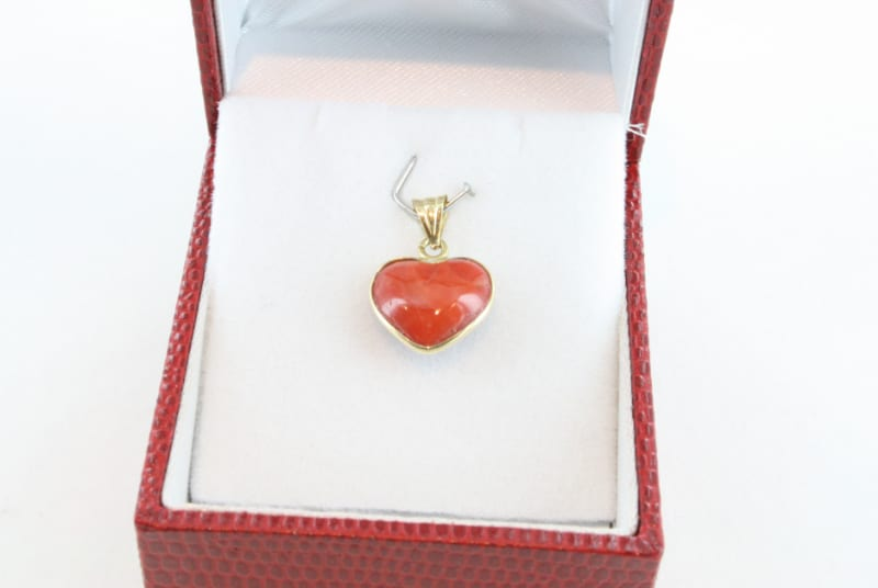 pendentif corail rouge et or PE-CO-OR-059